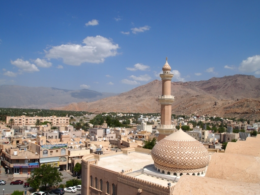 the town of Nizwa seen from Nizwa Fort