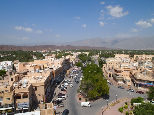 the view from the Fort over downtown Nizwa