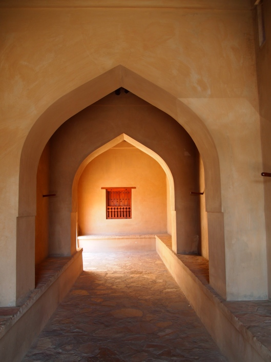 """the """"other"""" entrance to Ibri Castle.  Oops, I mean to the mosque!"""