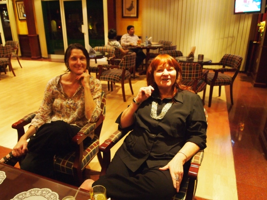 Gretchen and Marcia in the Falaj