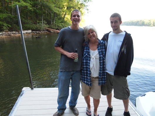 Adam, me and Alex at Deep Creek Lake this summer.  Alex came to visit me in Korea last year.