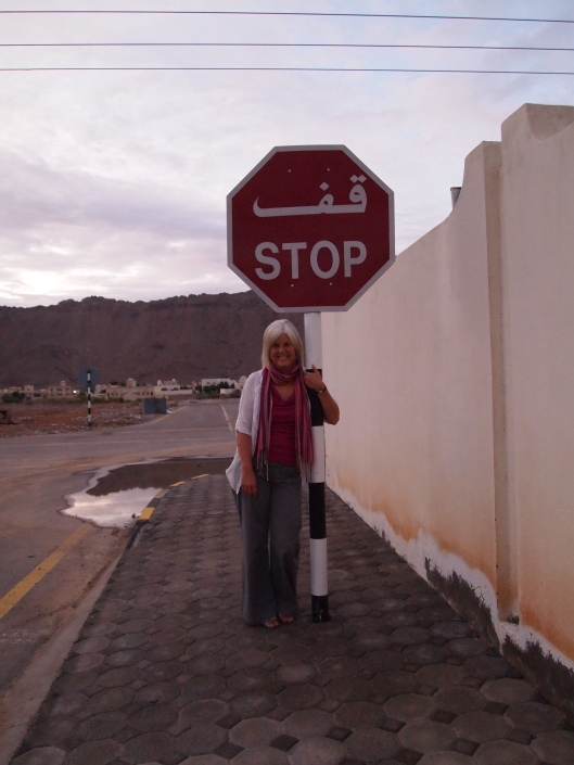 me with a stop sign in Kathy's neighborhood