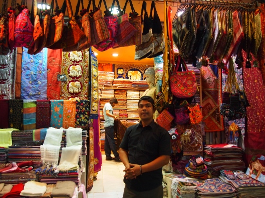 a shopkeeper in the Mutrah Souq