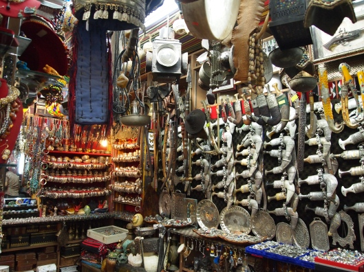 the traditional Omani daggers in the souq