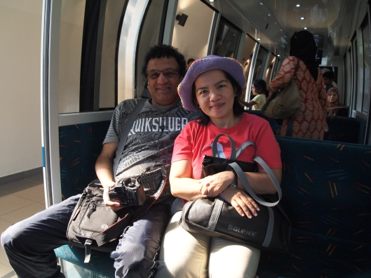 Antonio & Kathy on the train into Al Hoota Cave