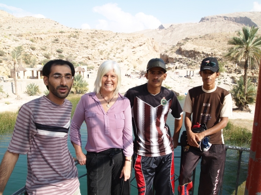 Adil, me and two of his non-English speaking Omani friends