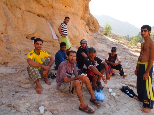 my companions at Wadi Bani Khalid