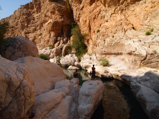 deeper into the wadi