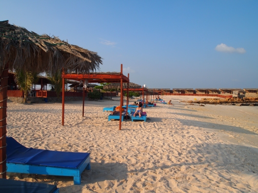the beach at Turtle Beach Resorts at Ras Al-Hadd