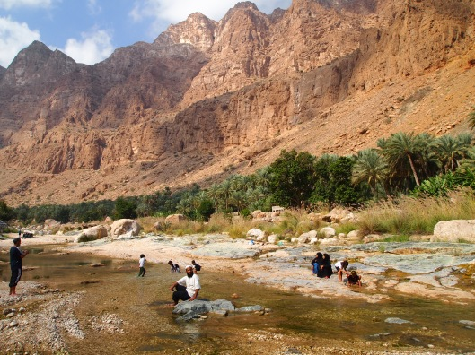 the stream in wadi tiwi