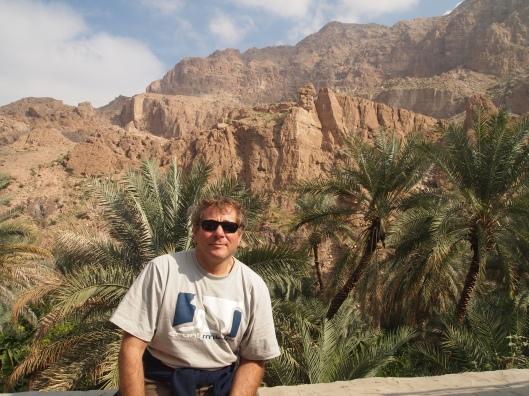 Guido partway up Wadi Tiwi