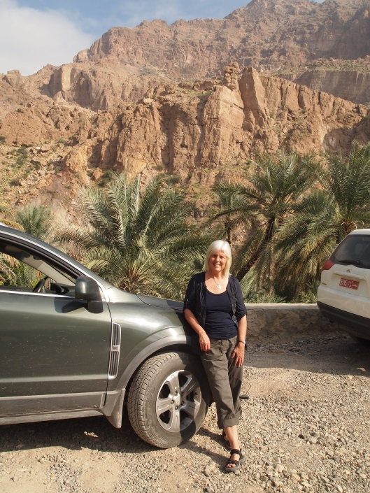me with my GMC Terrain at the top of Wadi Tiwi