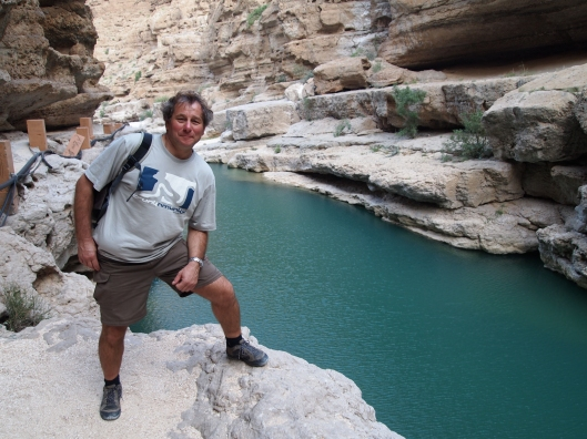 Guido next to one of the many pools in Wadi Shab