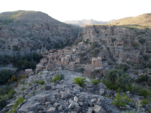 abandoned villages from the upper plateau of Jebel Akhdar