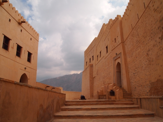 inside the gates of nakhal fort