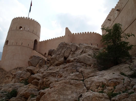 Nakhal Fort is built on a solid rock foundation