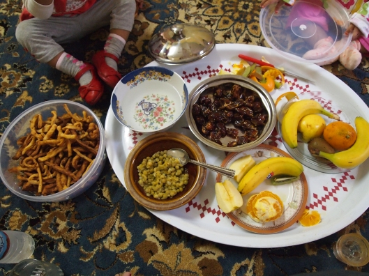 """""""snacks"""" at Adil's home"""