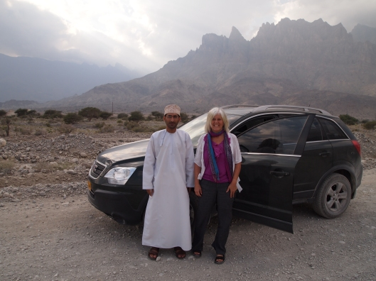 Adil and me and my GMC Terrain at Wadi Mistal