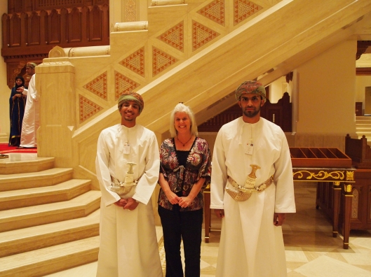 some nice (& handsome) Omani men who work at the Opera House