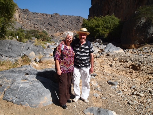 at Wadi Damm with Sandy and Malcolm