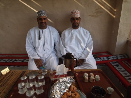 two omani men who own the bed and breakfast in misfat