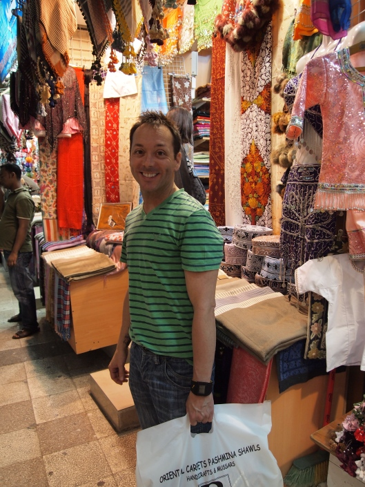Christian shopping in the souq