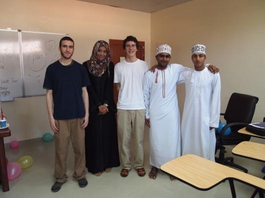 Alex, Habiba, Adam, Badr and Saud