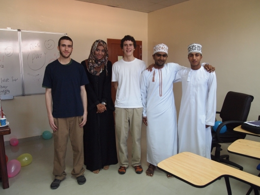 Alex, Habiba, Adam, Badr and Saud
