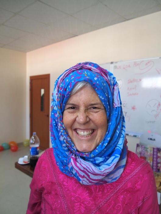 my bulbous head in a headscarf