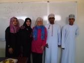 Thuraya, Shayma, me, Badr and Saud in January, University of Nizwa, Oman
