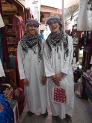 "My two ""Omani"" boys at Mutrah Souq, Oman"