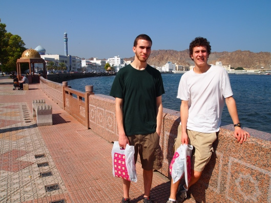 Alex & Adam at the corniche in Mutra