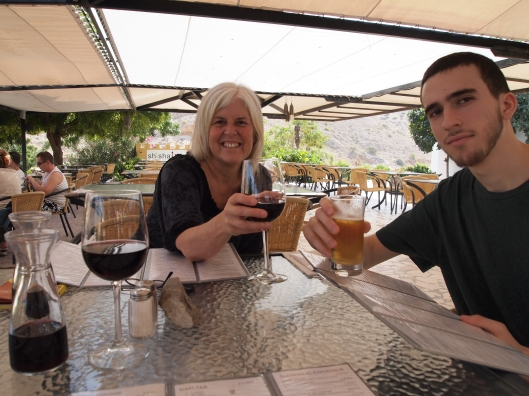 me & Alex toasting to Oman in the Dive Center