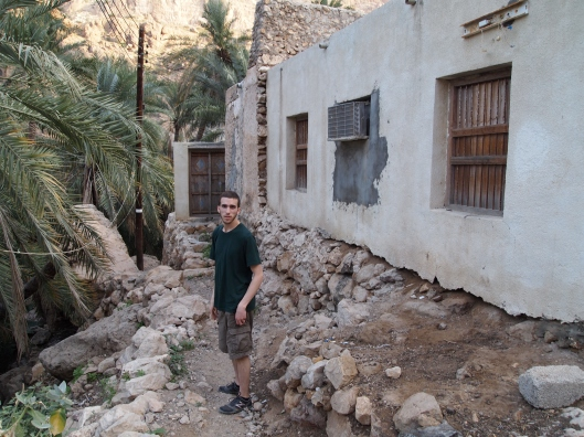 Alex in the village at Wadi Tiwi