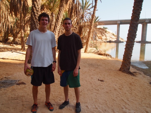 Adam and Alex at the entrance to Wadi Shab