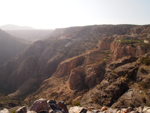 the terraced cliffs of jebel akhdar