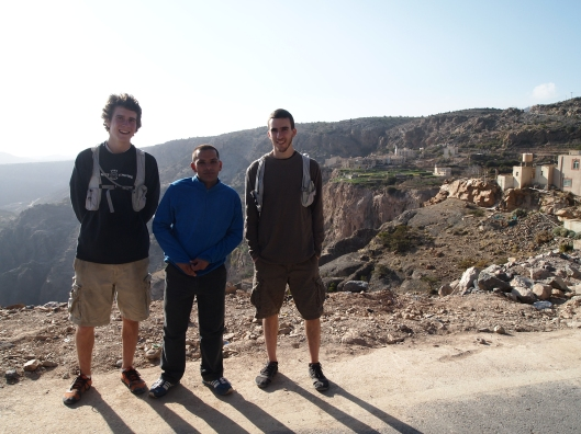 Adam, Moo and Alex on Jebel Akhdar