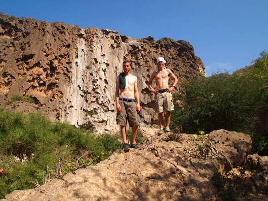 Alex & Adam, hot & sweaty at the Travertine Curtain