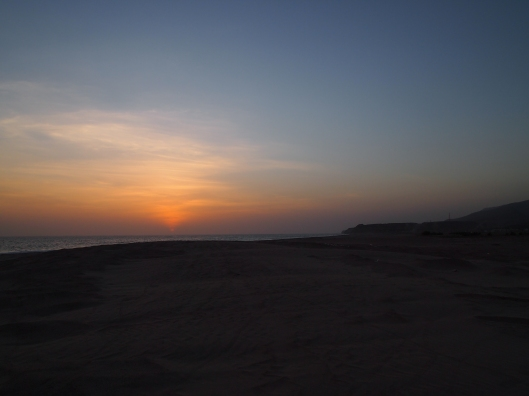 sunset in Salalah
