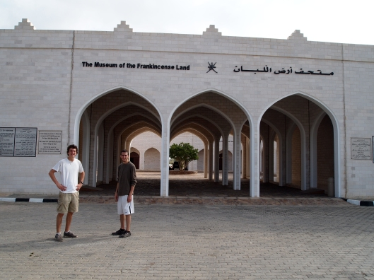 Adam & Alex in front of the Museum of the Frankincense Land