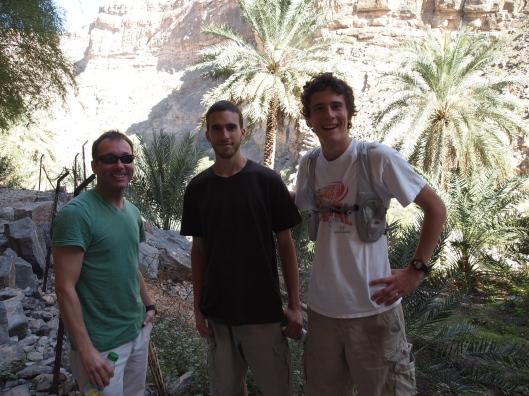 Christian, Alex & Adam at Wadi Tanuf