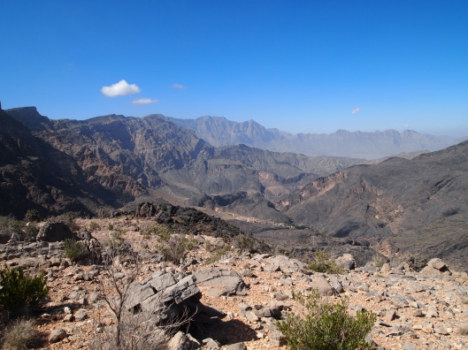 another view of the hajar mountains, this time from the dirt track