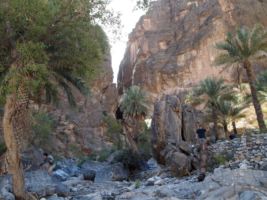 the entrance to the canyon leading to Balad Sayt