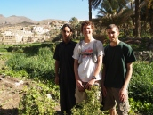 the young man from Balad Sayt, Adam & Alex in Oman.