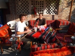 my sons chillin' at Ziyara in Muscat, Oman
