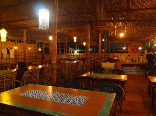 the dining area at camp al areesh