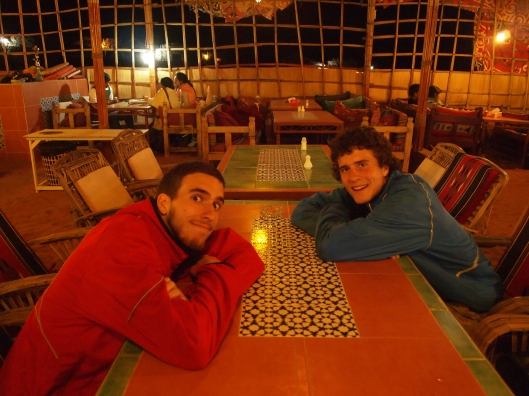 alex & adam at camp al areesh