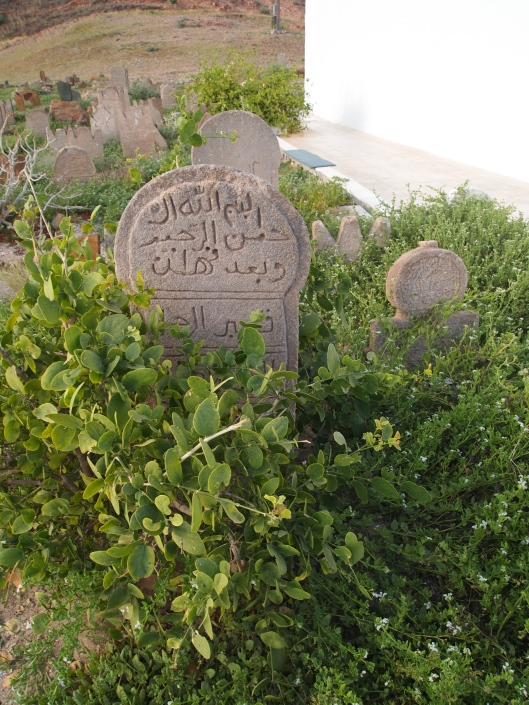 the cemetery near the Bin Ali tomb