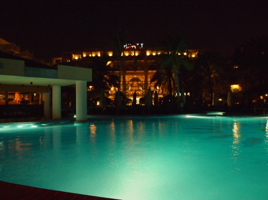 the pool at Marjan