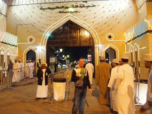Christian at the entrance to Muscat Festival